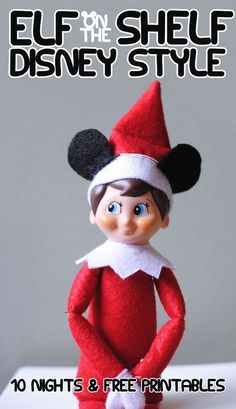 Adelle has put a spin on a popular Christmas tradition and is sharing Elf on the Shelf Disney Style today!