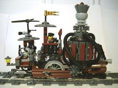LEGO Steampunk Train Locomotive