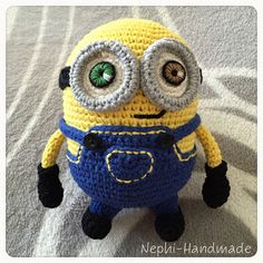 Nephi-Handmade - Minion Bob gehäkelt , Crochet Minions