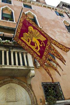 Flag of Venice - Venice flag, Italy, Venezia Veneto - Santa Lucia, Rome Florence, Italy Art, Italy Fashion, Flags Of The World, Northern Italy, Most Beautiful Cities, Venice Italy, Italy Travel