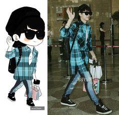 Nam Woohyun  #woohyun #fanart #airportfashion #infinite #infinitewoohyun