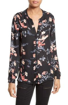 Joie Divitri Floral Silk Blouse available at #Nordstrom