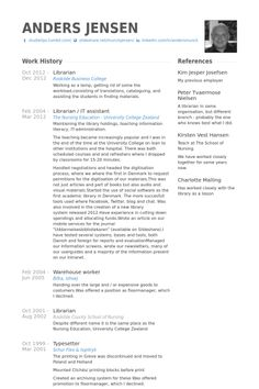 Resume For Librarian Mesmerizing Resume Examples Librarian  Resume Examplesresume Templates .