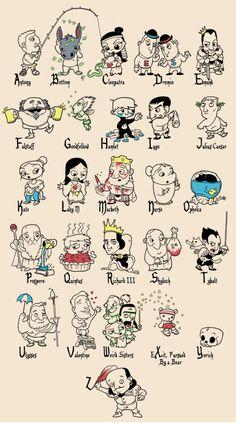 #Shakespeare Alphabet. So freaking cute!