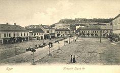 Eger,Dobó tér (Kossuth Lajos tér) 1900-as évek eleje (fotó kepkonyvtar.hu)