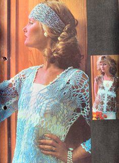 Pineapple motif blouses. Crochet jumper. Crochet top. Crochet cotton. Saved to Evernote