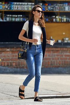 Denim + Birkenstocks.