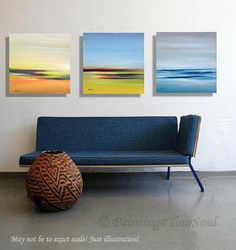 Triptych  Original abstract landscape oil por Painting4YourSoul