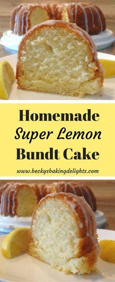 This Super Lemon Bundt Cake is layer by layer lemony goodness. - This Super Lemon Bundt Cake is layer by layer lemony goodness. There is … – Bundt Cake Recipes - Pound Cake Recipes, Easy Cake Recipes, Baking Recipes, Dessert Recipes, Lemon Bundt Pound Cake Recipe, Lemon Juice Cake Recipe, Lemon Glaze For Cake, Easy Lemon Cake, Drink Recipes
