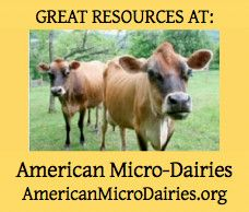 Great Resource for if you are thinking about starting your own micro-dairy (10 cows or less). Also talks about Bob White micro-dairy supplies.