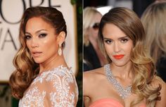 jennifer lopez & jessica alba, old hollywood hair