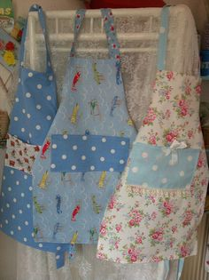 Childrens aprons in cath kidston fabrics by patchwork and lace, via Flickr