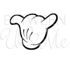 Shaka Luau Hawaiian Mickey Mouse Disney Iron On by CleanCutStudio, $6.99