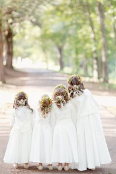 In love with this flower girls' photo: http://www.stylemepretty.com/2015/03/30/secret-garden-inspired-alabama-wedding/   Photography: Simply Bloom - http://www.simplybloomphotography.com/