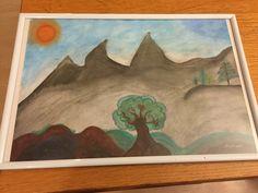 Pastell Aquarell Art Landscape