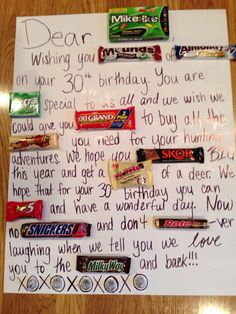 Candy bar poster birthday card httphativecandy bar poster candy bar birthday card bookmarktalkfo Images