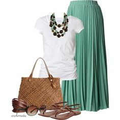outfits maxi skirt - Buscar con Google