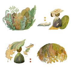 editorial illustrations 2012 by whooli chen, via Behance