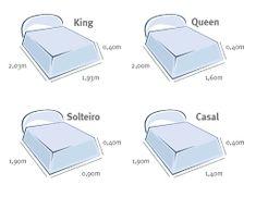 Resultado de imagem para dimensões de cama queen