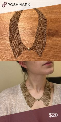 Vintage Collar Choker Necklace Obviously not to be worn with the shirt I am wearing in it's picture. But very cute! Talbots Jewelry Necklaces