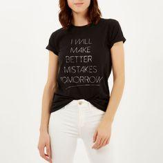 Black better mistakes oversized t-shirt