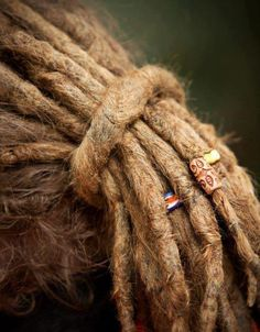Nice thick dreads with beads!