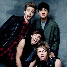 5 Seconds of Summer are an Australian pop rock and pop punk band. Formed in Sydney in 2011, the band consists of Luke Hemmings , Michael Clifford, Calum Hood and Ashton Irwin. The group were originally YouTube celebrities, posting videos of themselves covering songs from various artists. From there, they gained a small following after posting a series of cover versions of popular songs onto YouTube, then rose to international fame when One Direction invited them on their Take Me Home Tour.