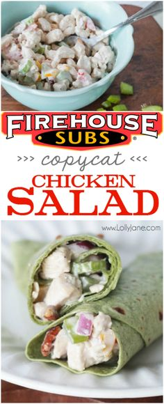 Firehouse Subs Copycat Chicken Salad, better than Mom used to make! Full of protein, veggies and low calories