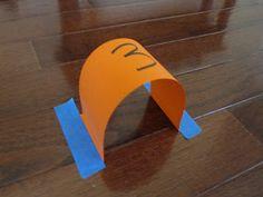 Alice in Wonderland: Indoor Croquet (cardstock and masking tape to attach to floor)