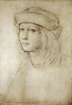 raphael sanzio - autoritratto, black chalk, c. 1499.