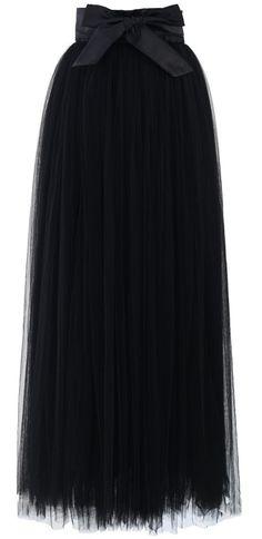 black tulle maxi skirt <3