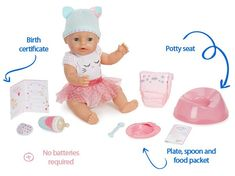 Gift Guide: Best Interactive Baby Dolls that Can Talk, Cry and Wet Interactive Baby Dolls, Potty Seat, Birth Certificate, Baby Born, Your Child, Gift Guide, Children, Blue Eyes, Gifts