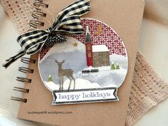 A Holiday Snow Globe with Sizzix – Audrey Pettit Designs