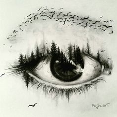 Super creative eye drawing by creative drawing ideas, creative artwork, creative sketches Amazing Drawings, Cool Drawings, Drawing Sketches, Eye Sketch, Bird Sketch, Sketch Art, Eye Pencil Sketch, Beautiful Pencil Drawings, Drawing Pictures