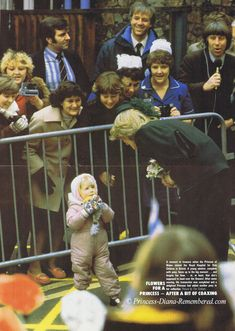 February 4, 1983:  Princess Diana's visit to Royal Hospital for Sick Children in Bristol where she opened a new Intensive Care Unit. This page is from an early issue of ROYALTY magazine from March 1983.