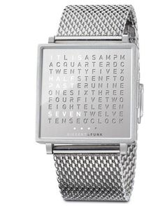 Qlocktwo With Fine Steel | 25 Geeky Watches You Didn't Even Know You Needed
