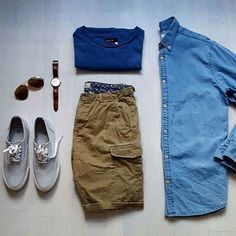 Chambray Monday or Really like this look from @boysinspiration getting ready for spring wardrobe whys is a must this time of season #menfashion #menstyle #menwear #menswear #men #style #trend #clothing #springwear #springclothes #spring #outfit #outfits #outfitgrid #denim #colors #boots #bluepants #blogger #fashion #fashionstyle #fashionmen #dapper #amsco