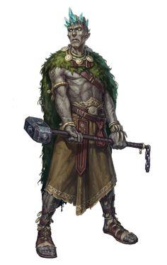 Stone Giant Leader Elder - Pathfinder PFRPG DND D&D d20 fantasy