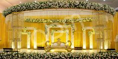 Fab wedding mandap decoration ideas at banquet halls in Delhi Wedding Stage Decorations, Marriage Hall Decoration, Decoration Hall, Wedding Reception Backdrop, Wedding Mandap, Wedding Receptions, Wedding Themes, Wedding Ideas, Flower Decorations