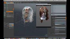 Modo - 3D Hair Shader and Sculpting - Vampiress by Steve Barrett