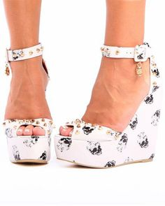 Amazon.com: Iron Fist Distant Memory Nude Platform Wedge: Shoes