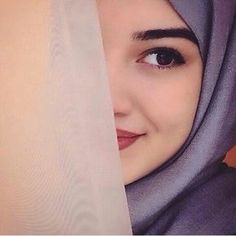 hijab, eye, and cute image