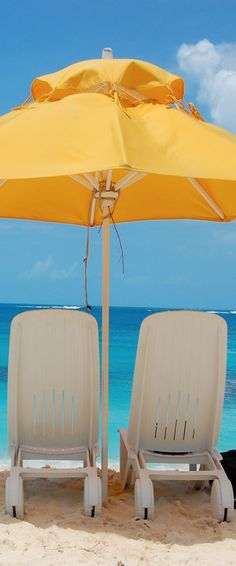 Caribbean island of Anguilla.  Your chairs are waiting for you!   ASPEN CREEK TRAVEL - karen@aspencreektravel.com