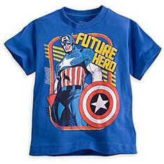 Captain America Tee for Boys | Marvel |Captain America Tee for Boys - He'll live up to the heroic image of Captain America wearing this iconic tee for boys that's mighty ideal!