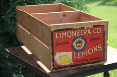 Vintage Limoneira Co Lemon Shipping Crate by sweetserendipityvint, $40.00