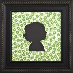 Have a silhouette done of your child (or possible pet!) and custom frame it to create a true treasure...