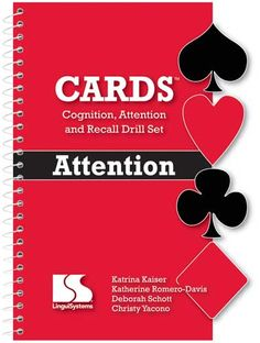 Card games for improving sustained attention and focus.  Use for lower-level clients (limited functional carryover).