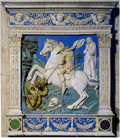Andrea della Robbia, San Giorgio e il Drago, 1495-1500. Brancoli (Borgo a Mozzano), Santi Maria e Giorgio