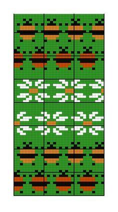 Photo Knitting Charts, Loom Knitting, Knitting Stitches, Knitting Designs, Knitting Patterns, Tapestry Crochet Patterns, Weaving Patterns, Stitch Patterns, Fair Isle Chart