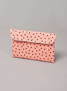 Couverture and The Garbstore - Womens - Falconwright - Polka Dot Leather Clutch